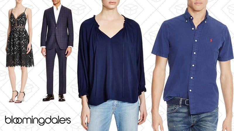 Aqua Lace Cami Empire Midi Dress, $69 | Theory Tonal Plaid Suit, $147-$357 | Velvet by Graham & Spencer Tie Blouse, $81 | Polo Ralph Lauren Cotton Silk Button Down Shirt, $75