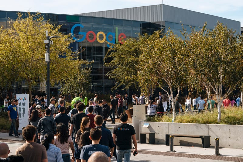 Google employees protesting last November over the company's handling of sexual misconduct claims.