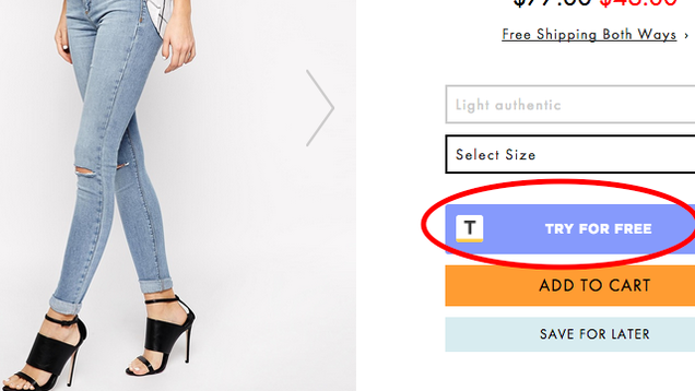 Try out clothes online