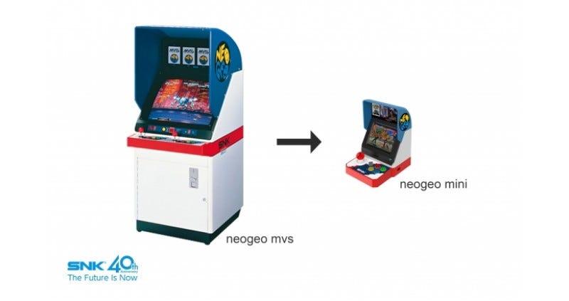 Preorder Neo Geo Mini | $109 | AmazonNeo Geo Mini Controller | $26 | Amazon | Black or White