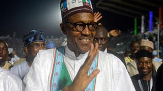 The newly elected president of Nigeria, Muhammadu Buhari, during a campaign event in Lagos Dec. 11, 2014PIUS UTOMI EKPEI/AFP/Getty Images