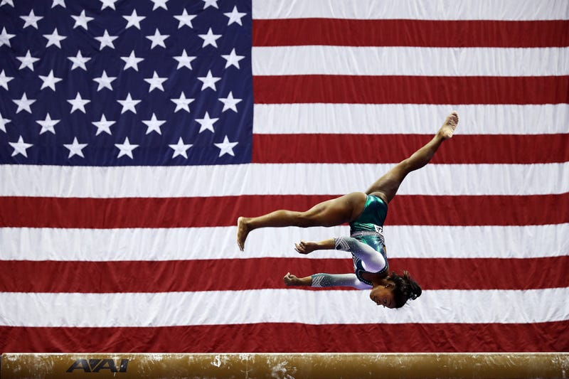 Illustration for article titled Simone Biles Dissatisfied With Her Own Performance That Included History-Making Dismount