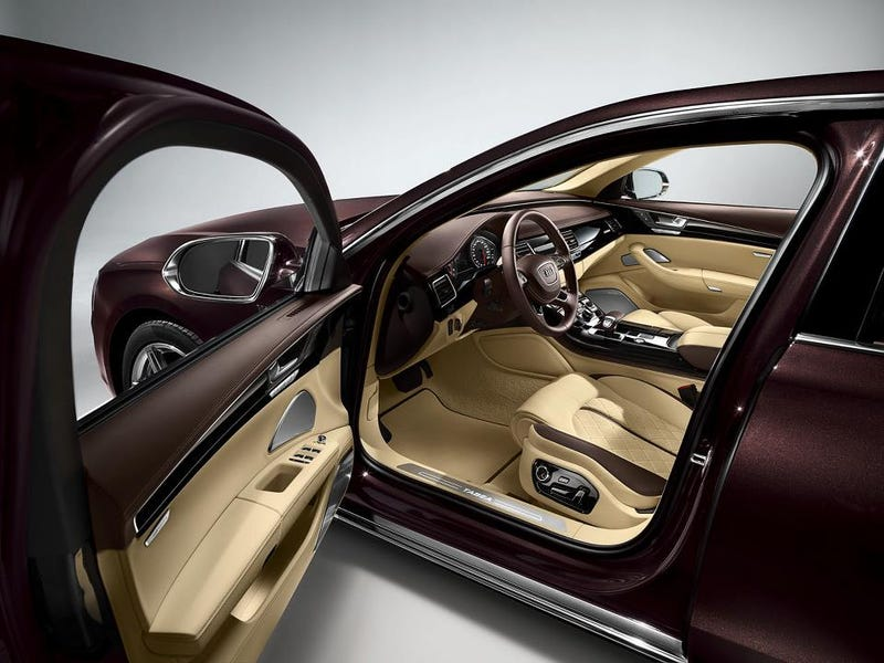 Illustration for article titled Audi Color of the Day- Magnolia with Chestnut Brown Interior A8L W12 Exclusive