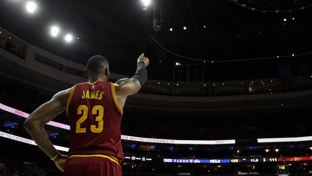 LeBron James Blocks Layup With His Presence