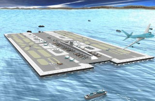 Illustration for article titled San Diego Floating Airport Would Be A City Of Its Own