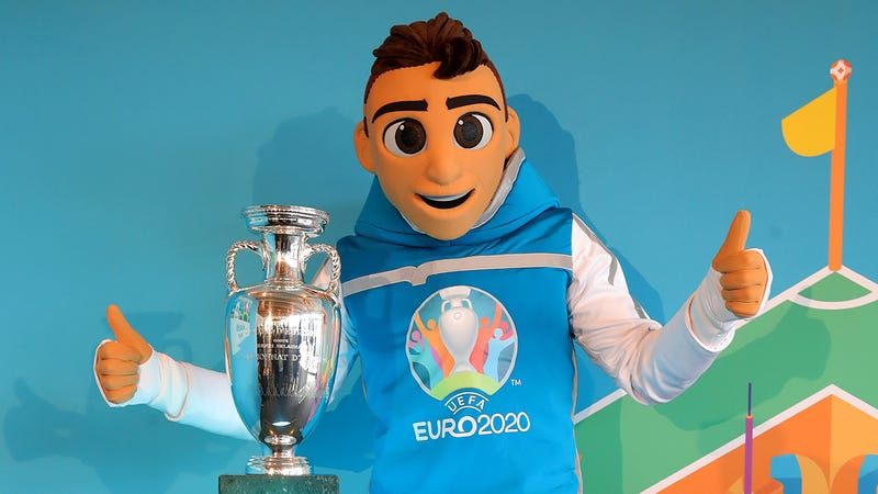 Illustration for article titled The Euro 2020 Mascot Is Just A Creepy Human Man