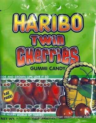 Illustration for article titled Today's Gummi: Haribo Twin Cherries