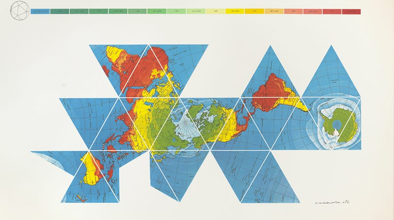 How Buckminster Fuller's Dymaxion Map Tessellated The World on