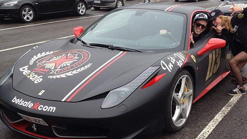 Illustration for article titled This Ferrari 458 Is The Latest Car To Crash At The Gumball 3000