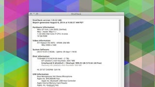 Illustration for article titled EtreCheck Produces a Bare Bones Diagnostic Report of Your Mac