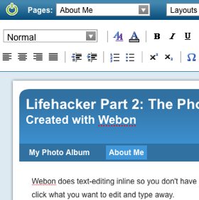 Illustration for article titled Webon Makes Building a Web Site Easy