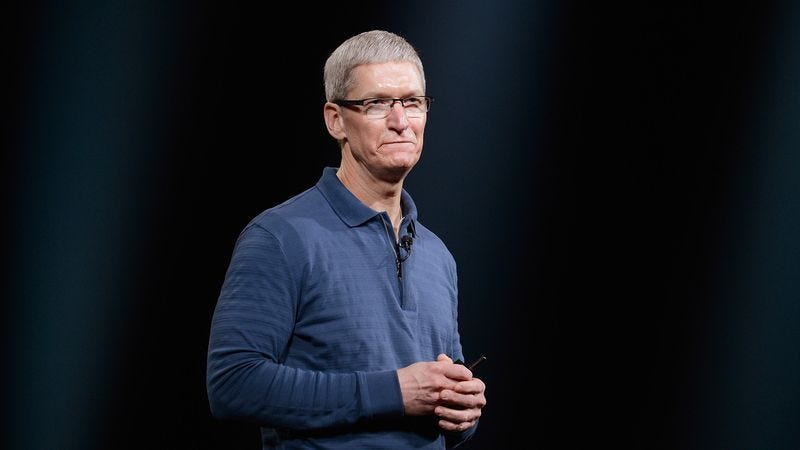 The ineffectual, idea-free man, whom Apple unveiled on stage today.