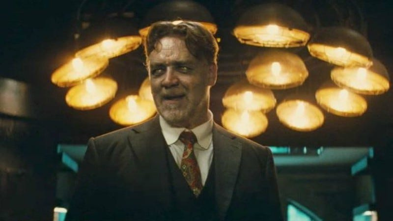 Image: Russell Crowe as Mr. Hyde, the connective tissue of this whole misbegotten universe. (Universal)