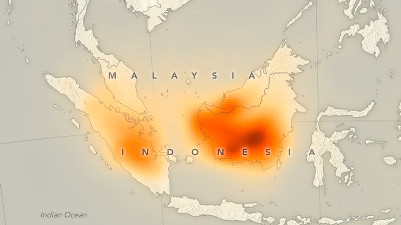 Illustration for article titled Fires Caused These Massive Plumes of Carbon Monoxide to Appear Over Indonesia