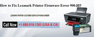 Illustration for article titled How to Fix Lexmark Firmware Error 900.00?
