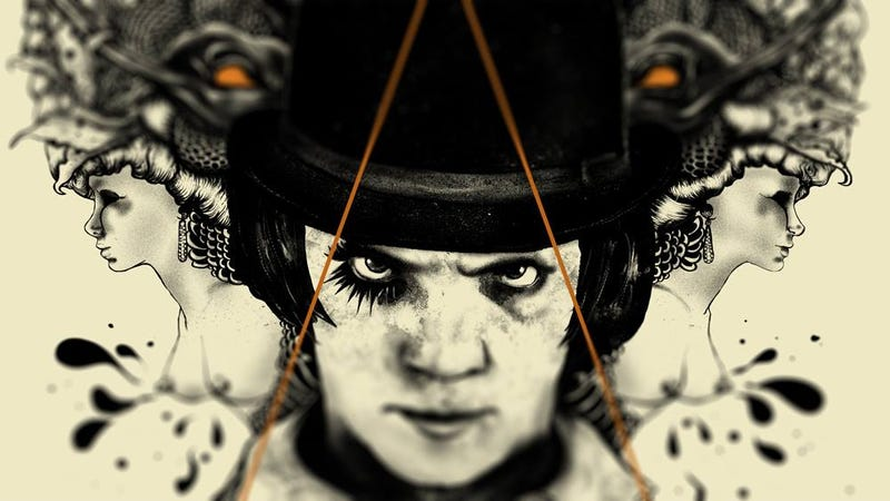 Illustration for article titled We're Transfixed by This Striking (and Incredibly NSFW) Clockwork Orange Poster