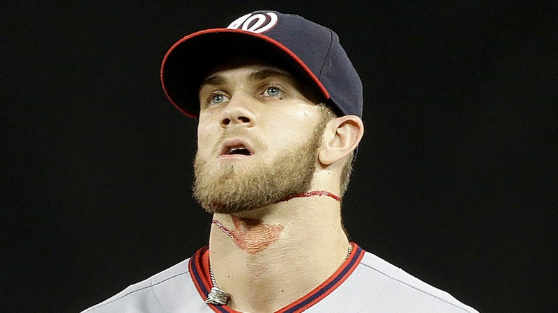 Illustration for article titled Bryce Harper Wasn't Playing Hard Last Night, He Was Playing Dumb