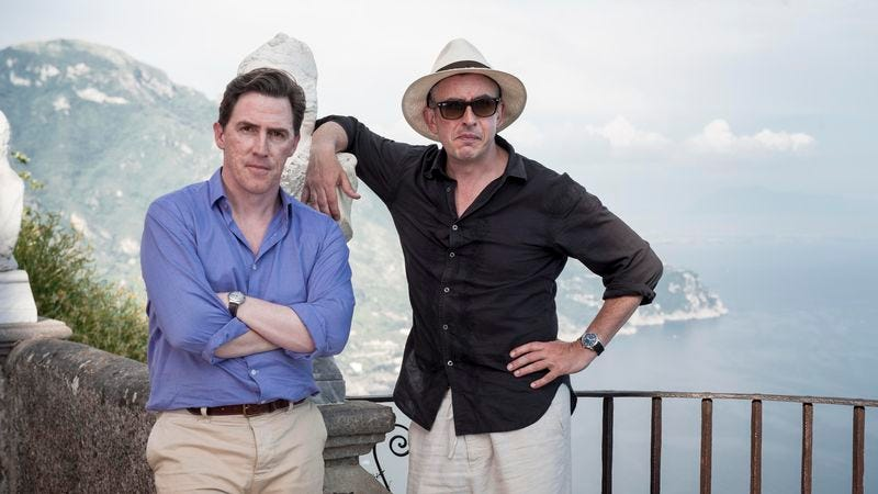 Illustration for article titled The Trip To Italy is just more of the same from Steve Coogan and Rob Brydon