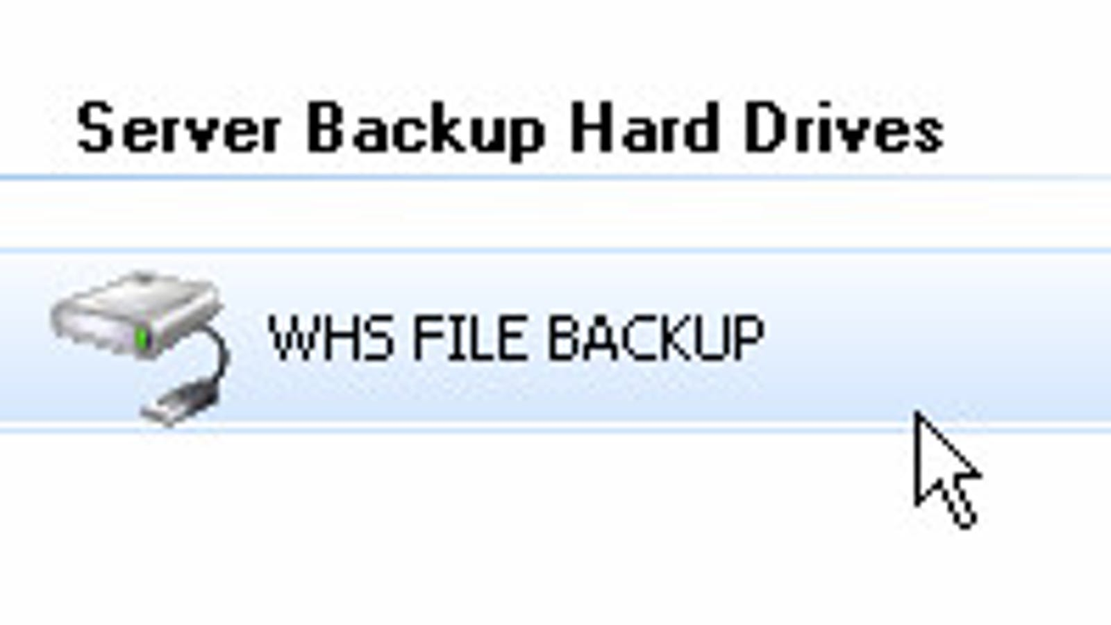 Back Up Your Windows Home Server to an External Drive