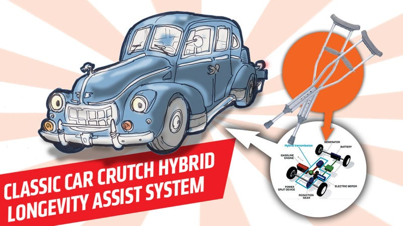 Illustration for article titled How Hybrid Tech Could Help Preserve Rare Old Cars