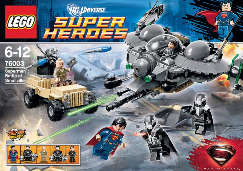 Illustration for article titled Looks like Smallville gets trashed in Man of Steel... if Lego has anything to say about it!