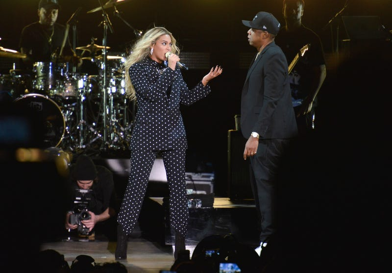 Beyoncé and and Jay-Z perform during a Get Out the Vote concert in support of Hillary Clinton at Wolstein Center on Nov. 4, 2016, in Cleveland.