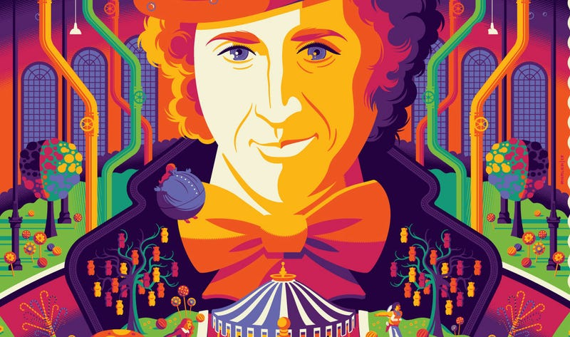 Willy Wonk and the Chocolate Factory by Tom Whalen. All Image: Dark Hall Mansion