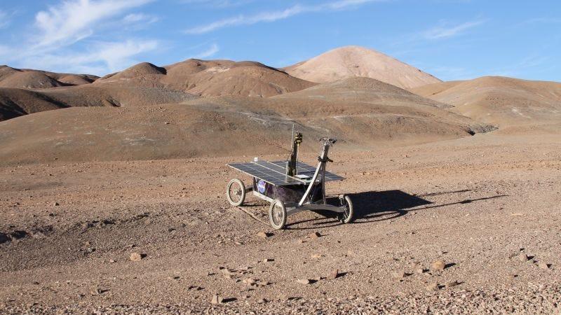 Una prueba de la NASA en el desierto de Atacama.Imagen: Stephen Pointing