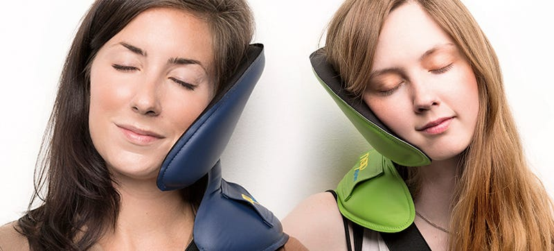 Illustration for article titled This Neck Support Lets You Nap Practically Anywhere