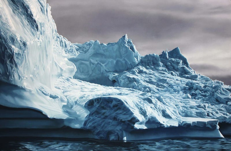 Illustration for article titled Incredible iceberg images are actually drawn with fingers