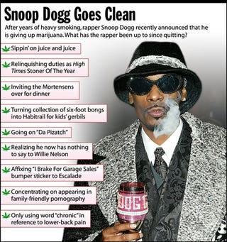 Snoop Dogg Goes Clean