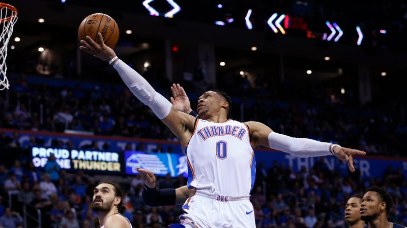 """Illustration for article titled Thunder Announcer Who SaidRussell Westbrook Was """"Out Of His Cotton-Pickin' Mind"""" Suspended For One Game"""