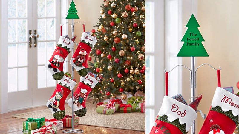 Personalized Metal Christmas Stocking Holder   $21   Walmart