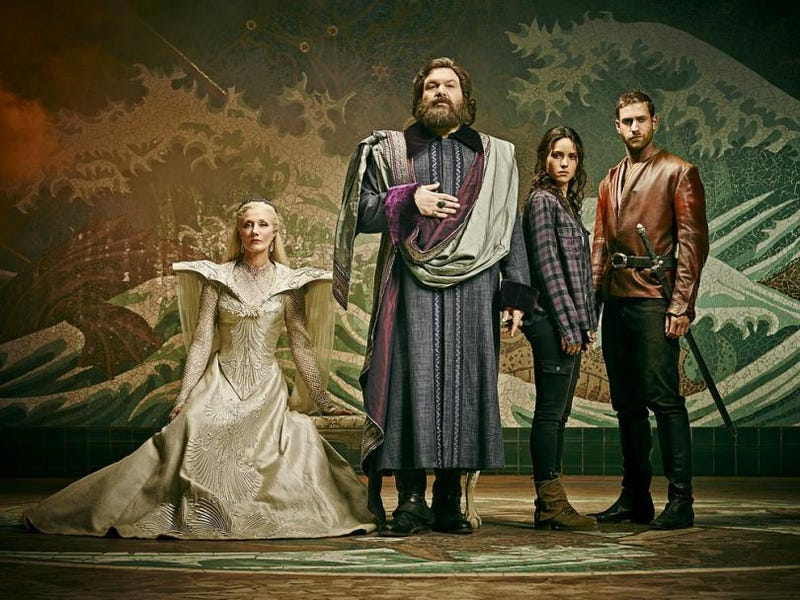 Joely Richardson as Glinda, Vincent D'Onofrio as the Wizard, Adria Arjona as Dorothy, and Oliver Jackson-Cohen as Lucas.