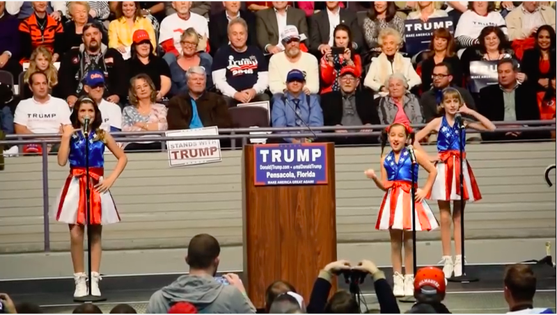 The little girls who sang Donald Trump's praises are now suing him