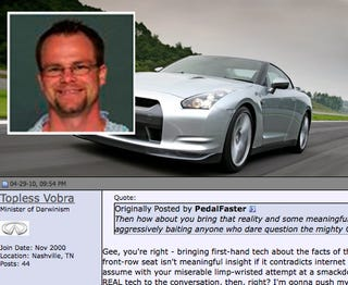 """Illustration for article titled Nissan Exec Attacks """"Jackass"""" GT-R Owners In Online Forum"""