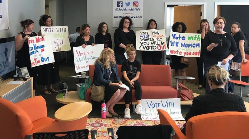 Illustration for article titled West Virginia Women Are Occupying Joe Manchin's Office, Demanding a 'No' Vote on Brett Kavanaugh