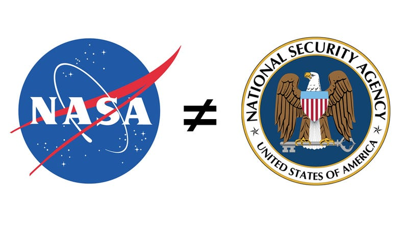 Illustration for article titled Hackers Mistake NASA For NSA, Take Down Wrong Home Page