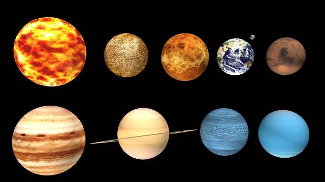 Pictures of all 9 planets