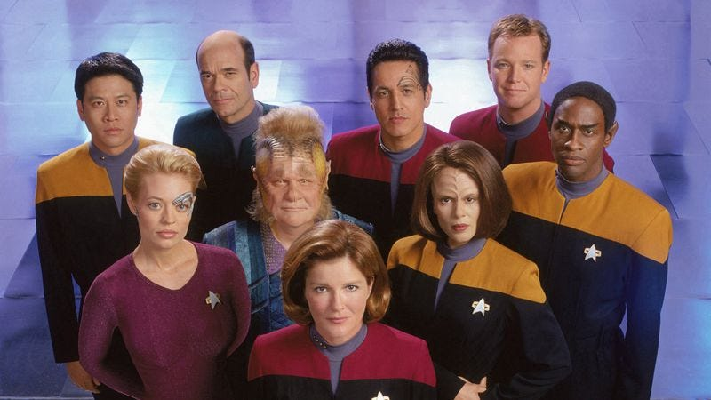 Illustration for article titled Star Trek: Voyager accidentally presided over the franchise's decline