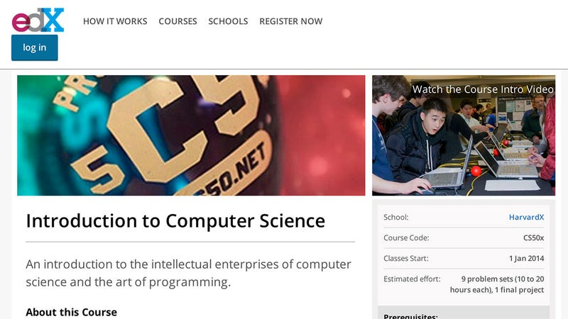 University that offers free online compute science course with certificate?