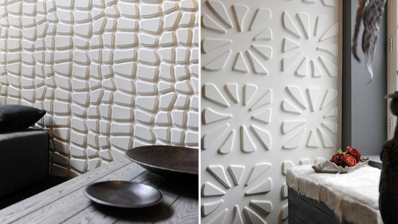 Fancy 3d wallpaper is basically thousands of shelves for dust for Bauhaus 3d tapete