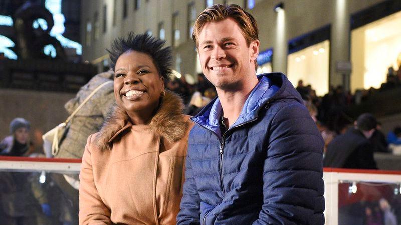 Leslie Jones, Chris Hemsworth (NBC)
