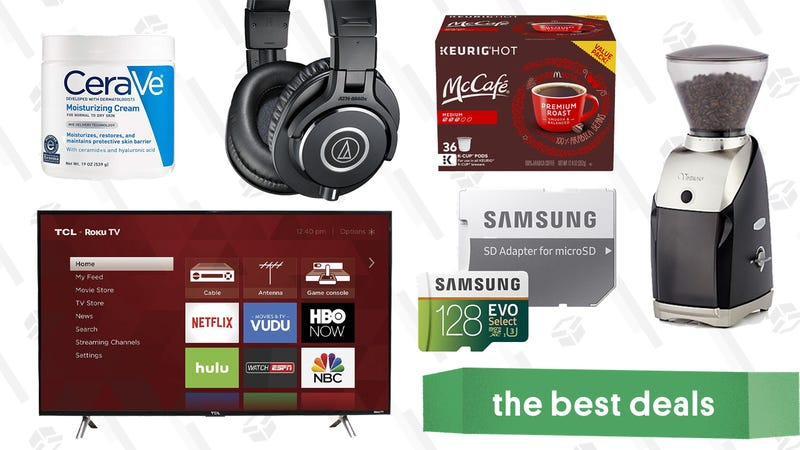 Illustration for article titled Monday's Best Deals: TCL TV, Diane Von Furstenberg, Coffee Grinders, and More