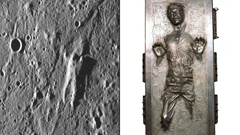 Illustration for article titled NASA Probe Found Han Solo on Mercury's Surface