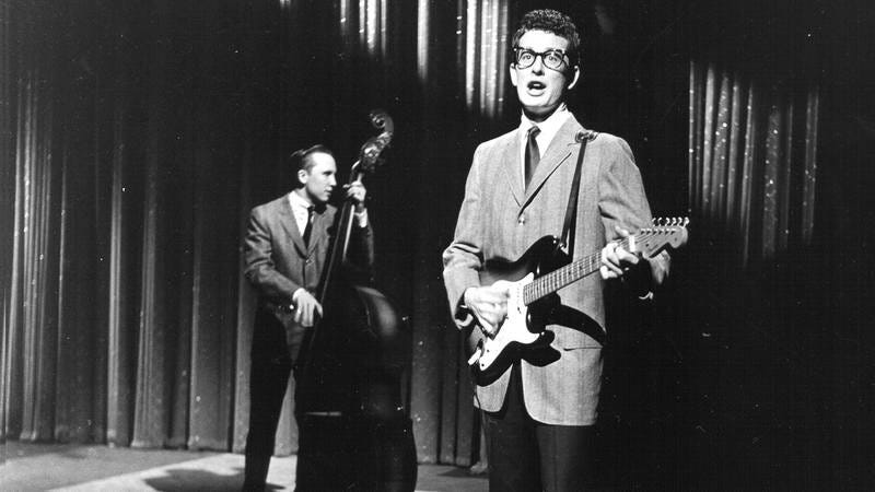 Buddy Holly onstage.