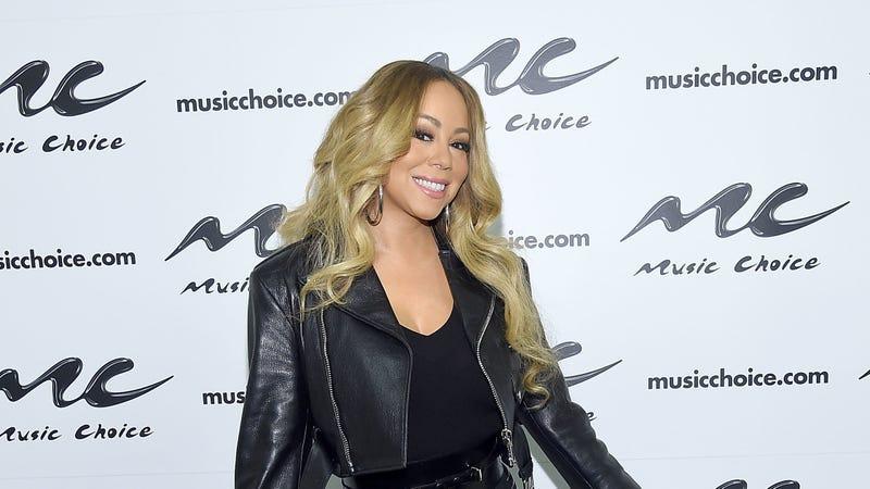 Mariah Carey visits Music Choice on November 16, 2018 in New York City.
