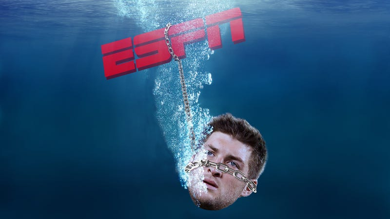 "Illustration for article titled ESPN Finally Disavows Its Tebow Coverage: ""We Didn't Handle That Very Well"""