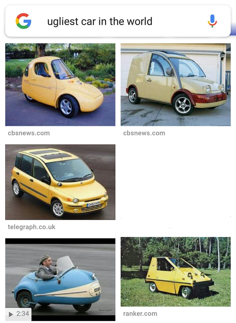 """Illustration for article titled """"Ugliest Car In The World"""""""