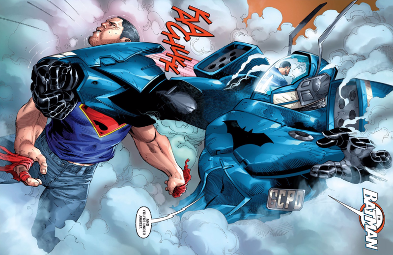 Illustration for article titled One Thing Not Changing at DC Comics: Batman Kicking Superman's Ass